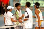 图文-十运会网球混合双打决赛友谊第一比赛第二