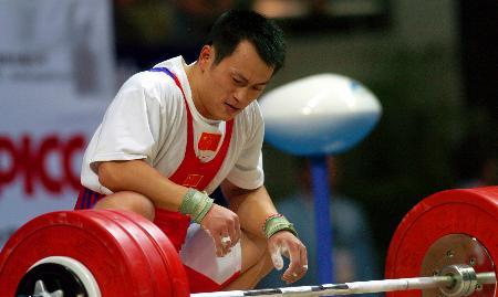 图文-十运举重男子69公斤级比赛张国政:怎么会!