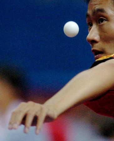 眼球-十运乒乓赛图文聚焦王励勤欲展开攻势悠悠球活眠绑线图片