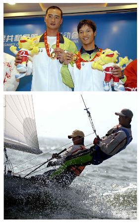 图文-十运会帆船比赛全部金牌产生金牌各有所属