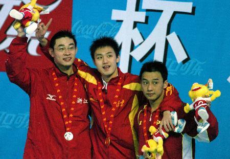 图文-十运会男子1500米自由泳前三选手各有收获