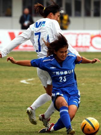 图文-十运女足上海1-0胜江苏获季军肖燕力压颜琳