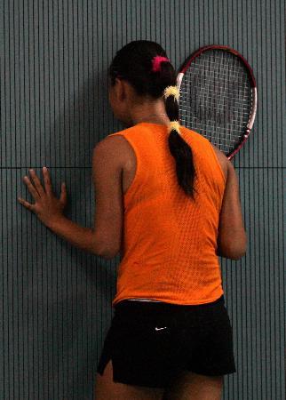 图文-十运会十大瞬间悲情小彭帅泪洒网球赛场
