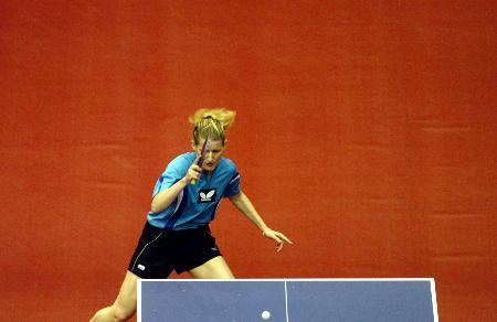 女子乒乓球世界杯鲍罗斯4比0帕夫洛维奇