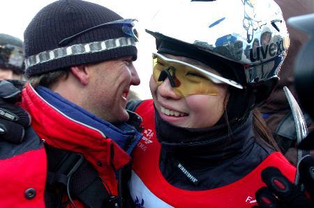 图文-自由式滑雪空中技巧世界杯王姣喜获桂冠