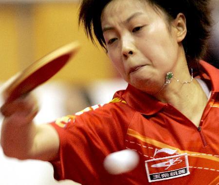 图文-新华社评2005年中国体育十佳运动员张怡宁