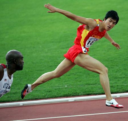 图文-新华社评2005年中国体育十佳运动员刘翔