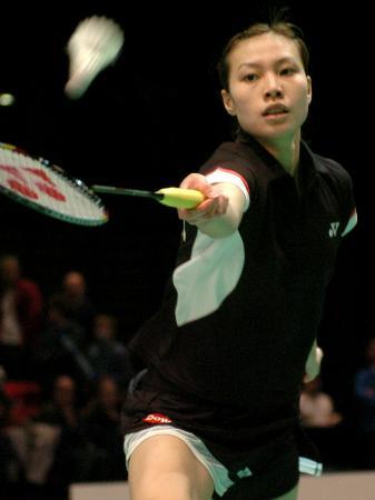图文-全英羽毛球公开赛谢杏芳力克张海丽进入决赛