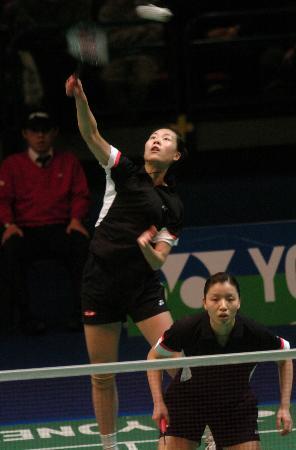图文-全英羽毛球公开赛杨维张洁雯顺利晋级决赛