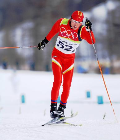图文-越野滑雪男子竞速赛资格赛田野无力晋级
