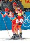 图文-冬季两项4x6公里接力中国选手努力拼搏