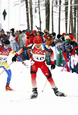 图文-中国女选手获冬季两项最好成绩孙日波获22名