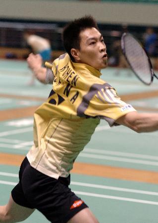 图文-中国羽毛球队备战汤尤杯陈宏在训练中