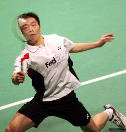 图文-中国大师赛进入第二天陈宏高难度回球