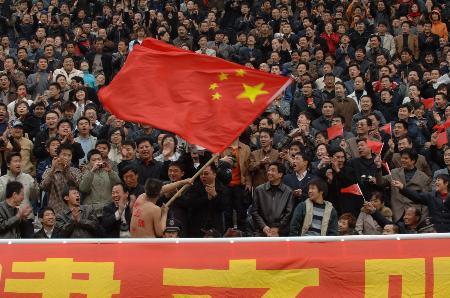 图文-2006中超联赛开幕式中国球迷关注中超联赛