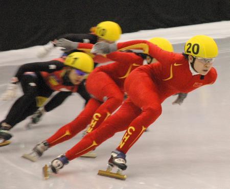 图文-世界短道速滑锦标赛赛况王�饕宦淼毕�