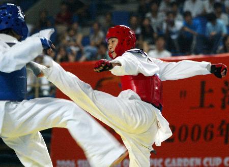 图文-跆拳道中国公开赛次日宗绍娟勇夺冠军