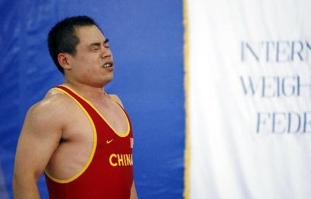 图文-举重世锦赛袁爱军无缘前八英雄迟暮徒长叹
