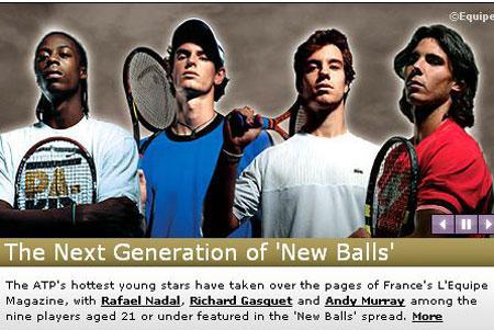 ATP重拳推新人纳达尔加斯奎特穆雷谁与争锋(图)