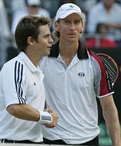 图文-[网球]戴维斯杯澳洲晋级八强在握欣然庆祝