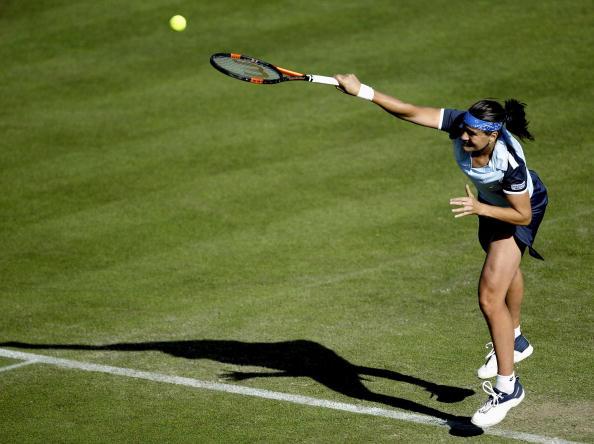 网球赛_图文瑞士室内网球赛四强产生
