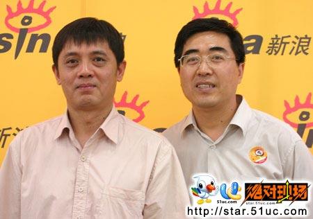 左)和中国现代国际关系研究院欧洲研究所所长冯仲平(右)  -7月8