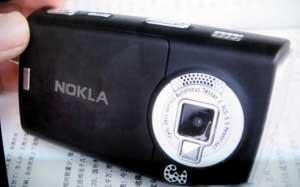 科技时代_黑手机克隆名牌难辨真伪:NOKIA变NOKLA(图)