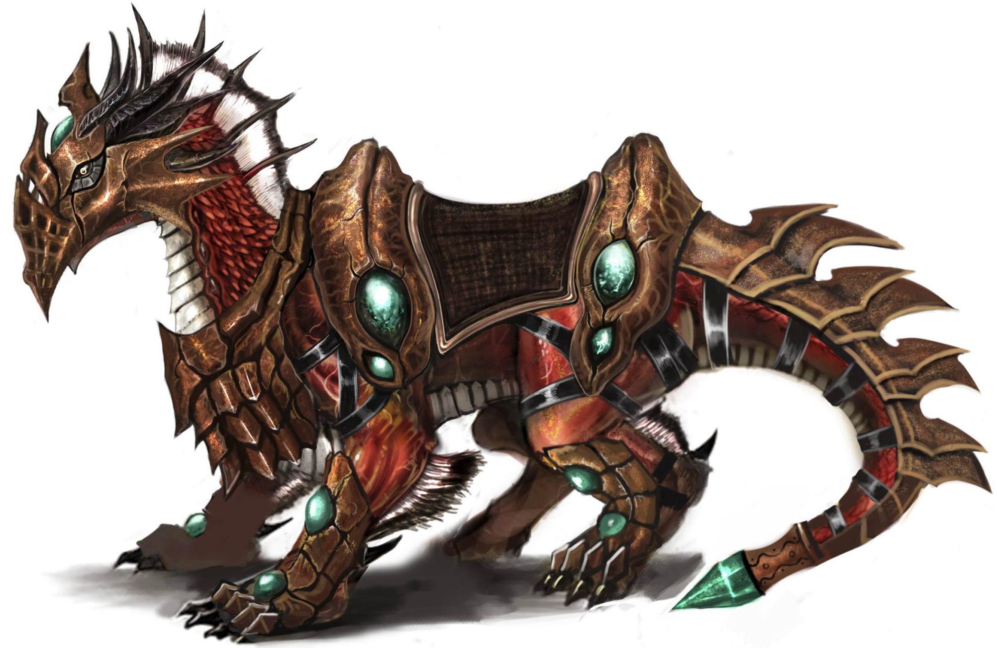 欧美人于兽_野蛮人高级坐骑:地龙兽.