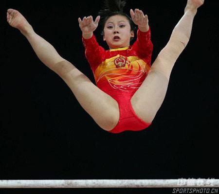 图文-亚运会女子高低杠决赛