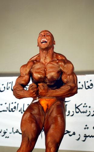 图文-阿富汗再次举行全国健美大赛 冠军级的肌肉